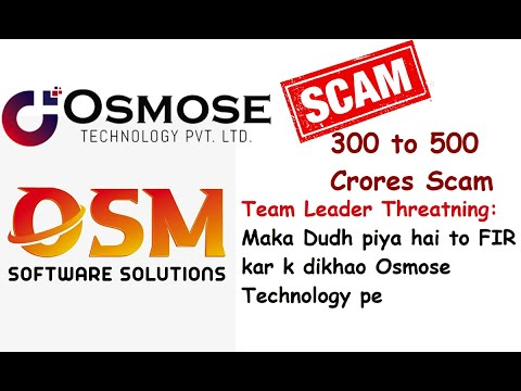 Team leader challenging to file FIR against Osmose Technology
